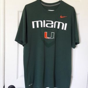 Nike Miami Hurricane Dri-Fit t-shirt  Large